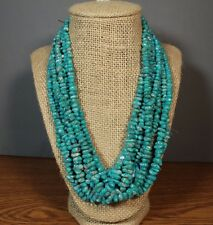 Campitos Turquoise Beads with Pyrite Graduated polished Nugget Bead Strand