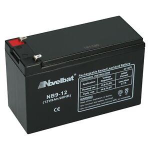 Blei AGM GEL Akku 12V 9Ah AGM Batterie ersetzt 7Ah 8Ah 9.5Ah 10Ah Echolot