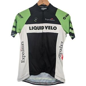 Garneau Black & Green Liquid Velo Full Zip Cycling Jersey - Womens Small