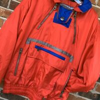 Vintage Red Color Block Tyrolia Ski Snow Winter Jacket Coat, Size Medium