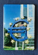 Kühlschrank und Deko Magnet Frankfurt Eurozeichen