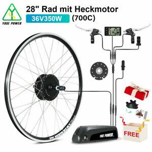 """E-Bike Conversion Kit 36V 350W 28"""" Heckmotor Schraubkranz+36V 12,5Ah Li-ion Akku"""