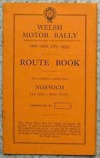 WELSH RALLY MOTORE NORWICH percorso iniziale Book 16 - 20 LUGLIO 1935
