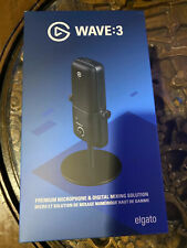 New! Elgato Wave 3 Wired Cardioid Condenser USB Microphone Creator Minded