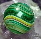 """GORGEOUS 💎AV GREEN & PINK Onion Skin HTF HANDMADE GERMAN Marbles .67"""" FRACTURES"""