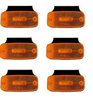 6x 24V LED Seitenmarkierungsleuchten Orange Wasserdicht Begrenzungsleuchten E9