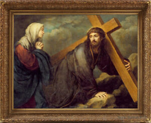 Old Master Art Portrait Jesus Christ at Calvary Religious Unframed 36x48 inch