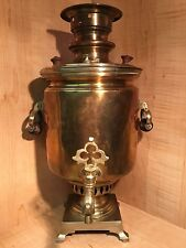 RUSSIAN SAMOVAR by TYAPKIN FACTORY TULA EXTRA RARE COPPER BRASS ORIGINAL TEA POT