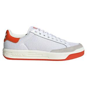 adidas Originals Rod Laver Vintage Shoes in White and Orange