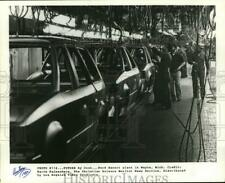 1982 Press Photo Assembly Line, Ford Escort Automobile Plant In Wayne, Michigan