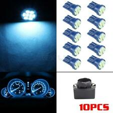 10pcs Ice Blue T10 194 LED Bulbs With Twist Lock Sockets Instrument Panel Lights