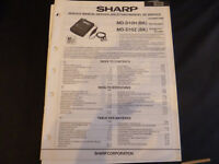 Original Service Manual Sharp MD-D10H MD-D10Z