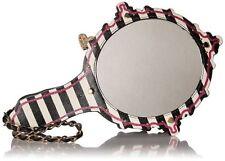NWT Betsey Johnson Hey Good Lookin Wristlet Handbag,Stripe Mirror Purse $78 new