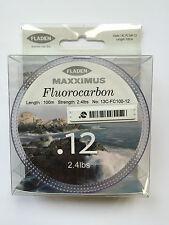 Angelschnur Fluorocarbon Fladen 100m 5,00€ (1m/0,05€) 0,12mm 2.4lbs NEU