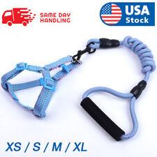 Durable Pet Dog Nylon Rope Leash + Collar / Harness + Leash Set Adjustable