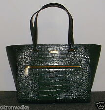 KATE SPADE PARLIAMENT SQUARE EXOTIC BRANTLEY HANDBAG LODEN GREEN LEATHER NEW