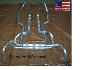 MADE IN USA Chambered Exhaust System Aluminized 67-68 Camaro Small Block