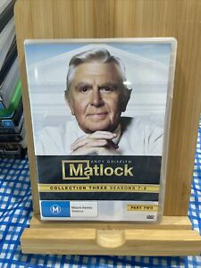 Matlock: Collection Three Seasons 7-9 Part Two Dvd Region 4 Rare
