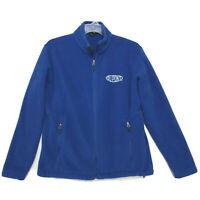 Dupont Fleece Front Zip Jacket Mens Size M Medium Blue Long Sleeve Polyester