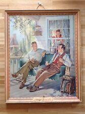 Antique Vtg Miller High Life Beer Framed Litho On Cardboard Sign, Wisconsin