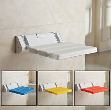 Wall Mounted Foldable Stool Bathroom Shower Seat Folding Spa Bench Save Space