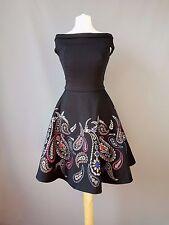 Ted Baker dress Adze bardot treasured trinkets paisley skater size 0 UK 6