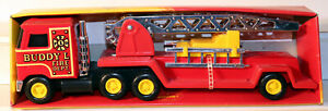"DTE JAPAN BUDDY L MACK HOOK AND LADDER FIRE TRUCK 9 1/2"" LONG NIOB"