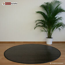 Bamboo Rug 180 Cm Round in Dark Brown Colour Bamboo Carpet Mat