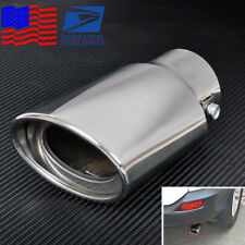 1x Chrome Tail Throat Pipe Stainless Steel Car Exhaust Pipe Muffler Pipe Tip USA