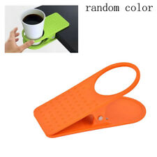 Universal Clip On Coffe Cup Holder Desk Table Beverage / Non-Slip Stand Grip x1