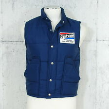 Vtg 80's Gabriel Puffer Vest sz Small S Winner 1980 Indy 500 Patch Racing
