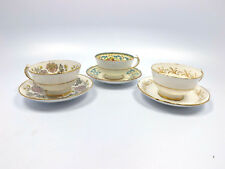 Paragon England Bone China 3 Demitasse Cups & Saucers Queen Anne, Chrysanthemum
