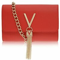 Mario Valentino Womens Fold Over Divina Bag Flap Zip Textured