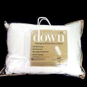 Charter Club Down European White 400 Thread Count Pillow
