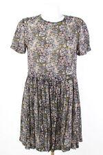 PAUL & JOE robe taille 40/L 100% soie Robe d'été Chemise Robe mousseline de soie silk dress