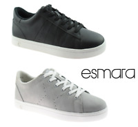 Ladies Esmara Womens Lace Up Walking Flat Canvas Pumps Trainers Plimsoll Shoes