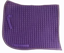 PRI Dressage Pad: Swan-tail, Equu-Felt Quilt, Wither Relief, Color: Purple/Gold
