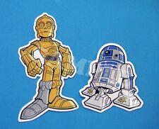 STAR WARS R2D2 C-3PO Vinyl Sticker Set Die Cut Laptop Skateboard Decals New Hope