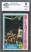 John Johnson Card 1974-75 Topps #66 Portland Blazers BGS BCCG 9