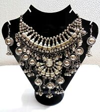 Vintage Style Handcrafted Oxidized Necklace Jewelry Kuchi Afghan Gypsy Boho 5047