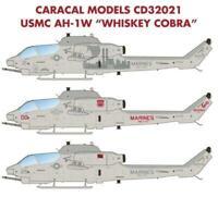 Caracal Models 1/35 decal CD32021 USMC AH-1W Whiskey Cobra for MRC / Academy