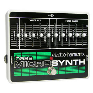 Electro-Harmonix Bass MicroSynth Guitar Effects Micro Synth Synthesizer Pedal
