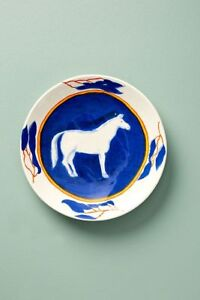 ANTHROPOLOGIE CALI DESSERT PLATE SUSAN HALL BLUE HORSE LIMITED ISSUE