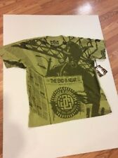 """NWT JUNGLE GREEN """"End Is Near"""" Gas Mask Graphic  T-Shirt Cotton XXL"""
