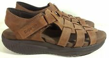 Skechers Shape Ups Sandals Leather Brown Womens Size  8.5 US, 38.5, S7