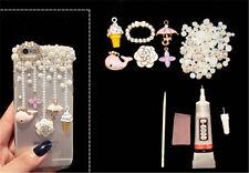 alloy whale flower deco den kit  diy cellphone phone case pearls flatback