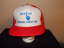 VTG-1980s Inland Fruit Co. Wapato Washington Produce apples pears plum hat sku15