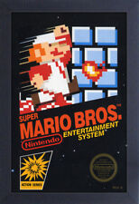 SUPER MARIO BROS VIDEO GAME 13x19 FRAMED GELCOAT POSTER NINTENDO CLASSIC VINTAGE