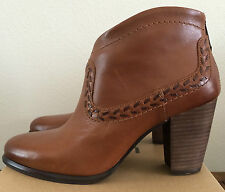 UGG Womens Size 6.5 Brown Leather Charlotte Ankle Boots 1005656 W/CHE (Youth 4.5