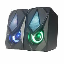 Mailin Computer Speakers for Desktop Changing Colorful 2.0 USB Laptop Gaming PC